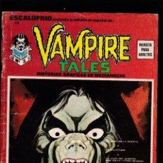 Cómics: ESCALOFRIO - Nº 13 - VAMPIRE TALES Nº 3 - MORBIUS EL VAMPIRO VIVIENTE Y SATANA - VERTICE -. Lote 209794850