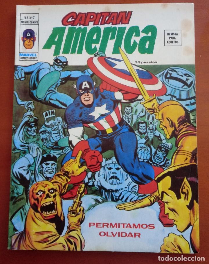 CAPITÁN AMÉRICA VOL 3 Nº 7. VÉRTICE. MUNDI COMICS. 1974. BUEN ESTADO. (Tebeos y Comics - Vértice - Capitán América)