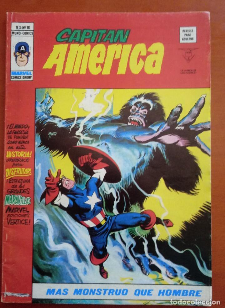 CAPITÁN AMÉRICA VOL 3 Nº 18. VÉRTICE. MUNDI COMICS. 1974. BUEN ESTADO. (Tebeos y Comics - Vértice - Capitán América)