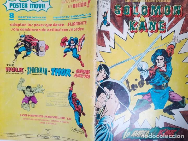 Cómics: LOS INSUPERABLES-VÉRTICE- Nº 36 -ÚLTIMO DE LA COLECCIÓN-SALOMÓN KANE-1978-REGULAR-DIFÍCIL-3770 - Foto 2 - 210203315