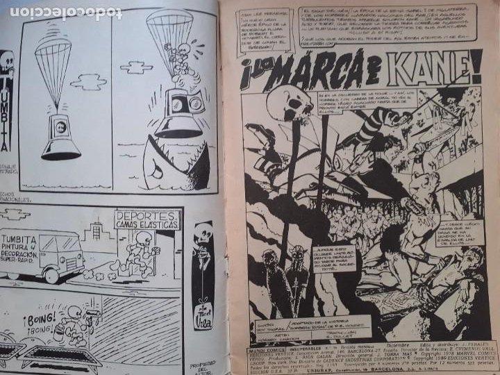 Cómics: LOS INSUPERABLES-VÉRTICE- Nº 36 -ÚLTIMO DE LA COLECCIÓN-SALOMÓN KANE-1978-REGULAR-DIFÍCIL-3770 - Foto 7 - 210203315