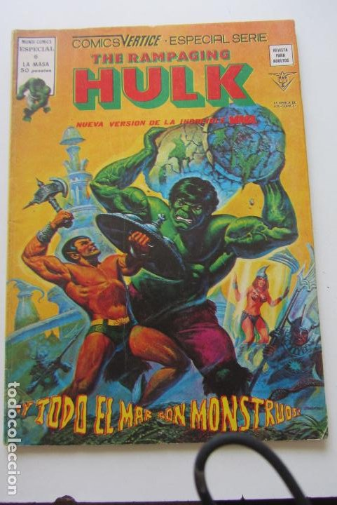Cómics: THE RAMPAGING HULK - ESPECIAL 6 - ¡Y TODO EL MAR SON MONSTRUOS! VERTICE 1979 BUEN ESTADO E2 - Foto 1 - 210322083