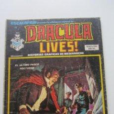 Cómics: ESCALOFRIO 32 - DRACULA LIVES! Nº 8 - HISTORIAS GRAFICAS DE MEDIANOCHE TERROR DIFICIL VERTICE E2. Lote 210323150