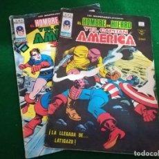 Cómics: LOTE LOS INSUPERABLES V1 , Nº 15-16 , EL HOMBRE DE HIERRO Y EL CAPITÁN AMERICA , VERTICE. Lote 210660404