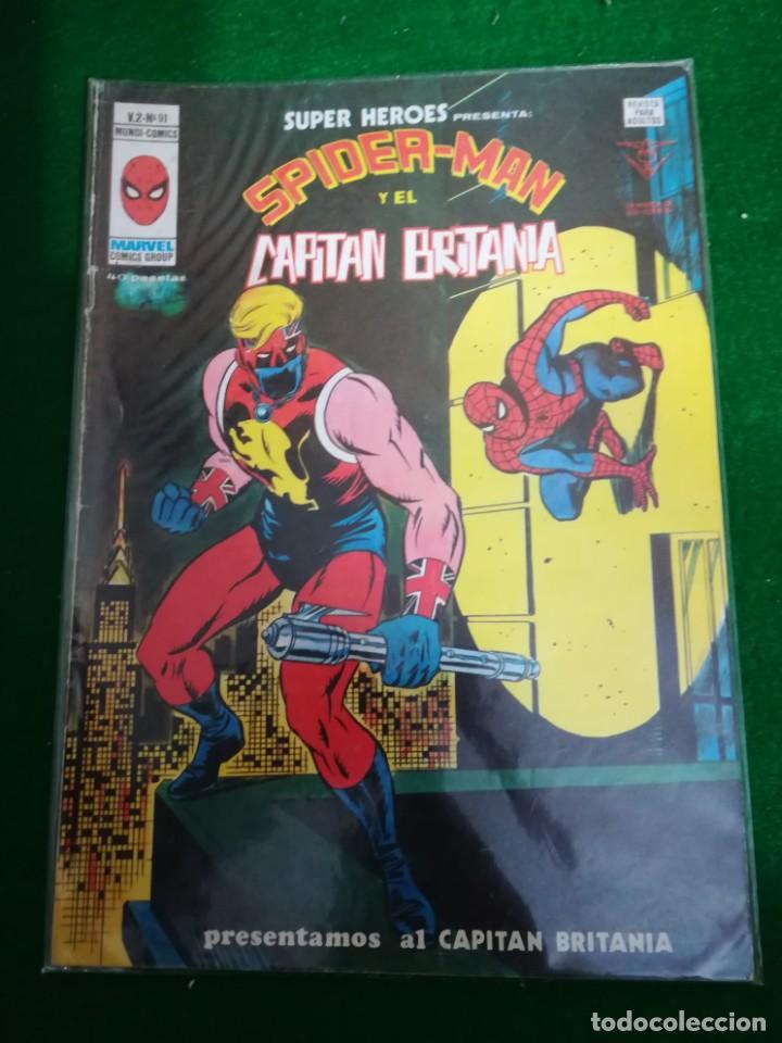 EDICIONES VÉRTICE MUNDICOMICS , SUPER HEROES , V2 Nº91 , SPIDERMAN Y EL CAPITÁN BRITANIA (Tebeos y Comics - Vértice - Super Héroes)