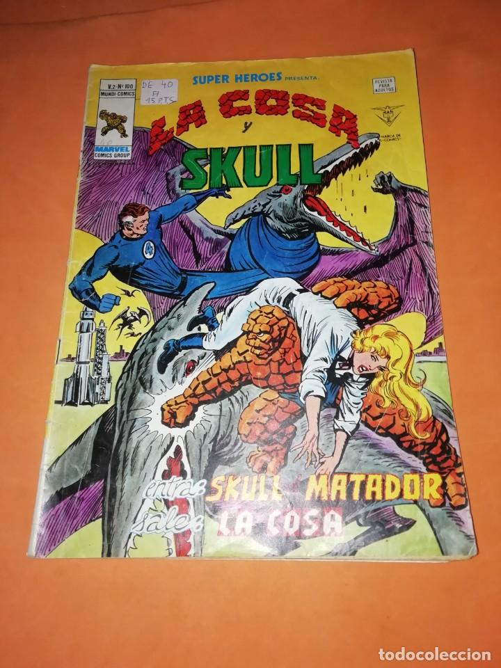 SUPER HEROES PRESENTA : LA COSA Y SKULL. VOL 2 Nº 100. VERTICE GRAPA (Tebeos y Comics - Vértice - Super Héroes)