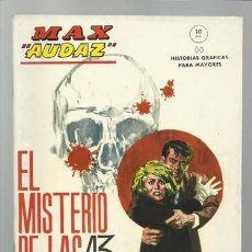 Cómics: MAX AUDAZ 11, 1965, VERTICE, MUY BUEN ESTADO. COLECCIÓN A.T.. Lote 210806945