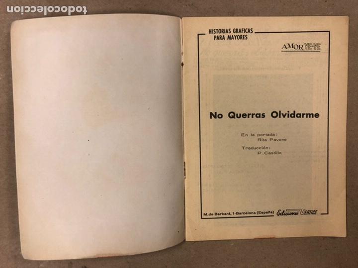 Cómics: AMOR YE-YE Nº 9 y N° 24 (EDICIONES VÉRTICE 1965). RITA PAVONE Y RICHARD CHAMBERLEIN. - Foto 3 - 211512365