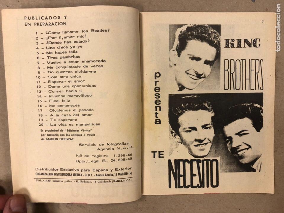 Cómics: AMOR YE-YE Nº 9 y N° 24 (EDICIONES VÉRTICE 1965). RITA PAVONE Y RICHARD CHAMBERLEIN. - Foto 12 - 211512365