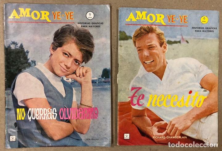 AMOR YE-YE Nº 9 Y N° 24 (EDICIONES VÉRTICE 1965). RITA PAVONE Y RICHARD CHAMBERLEIN. (Tebeos y Comics - Vértice - Otros)