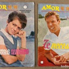 Cómics: AMOR YE-YE Nº 9 Y N° 24 (EDICIONES VÉRTICE 1965). RITA PAVONE Y RICHARD CHAMBERLEIN.. Lote 211512365