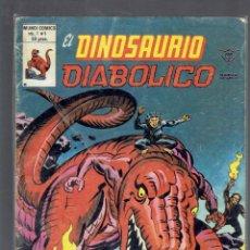 Cómics: EL DINOSAURIO DIABOLICO N,1 Y 2 MUNDI COMICS EDICIONES VERTICE 1979. Lote 211673914