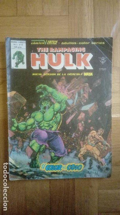 RAMPAGING HULK 13. VERTICE (Tebeos y Comics - Vértice - La Masa)