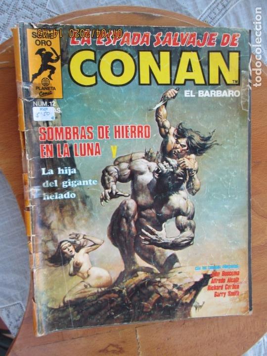 LA ESPADA SALVAJE DE CONAN EL BARBARO Nº 12 SOMBRAS DE HIERRO - PLANETA 1982 (Tebeos y Comics - Vértice - Conan)