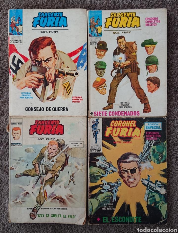 VÉRTICE, LOTE SARGENTO FURIA Y CORONEL FURIA, AÑOS 70, BUEN LOTE, VED FOTOS (Tebeos y Comics - Vértice - Furia)