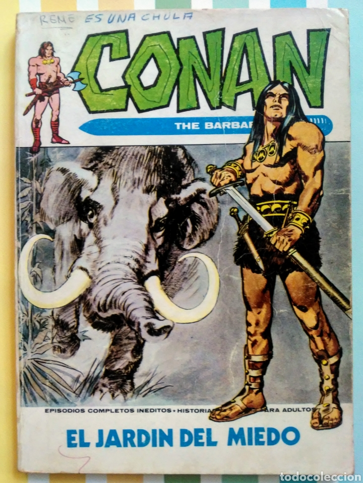 Cómics: lote Conan the barbarian nº 5, 7, 8, 9, 10, 12, 13, 14, 15 y 16 ed, internacionales vertice v.1 - Foto 2 - 212362252