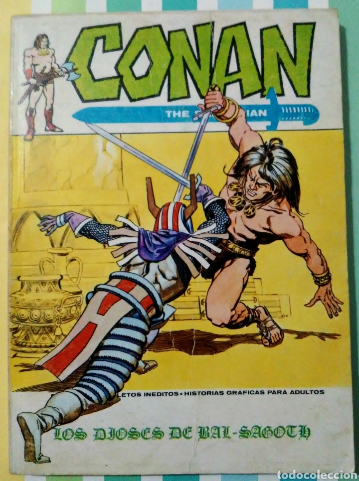 Cómics: lote Conan the barbarian nº 5, 7, 8, 9, 10, 12, 13, 14, 15 y 16 ed, internacionales vertice v.1 - Foto 6 - 212362252