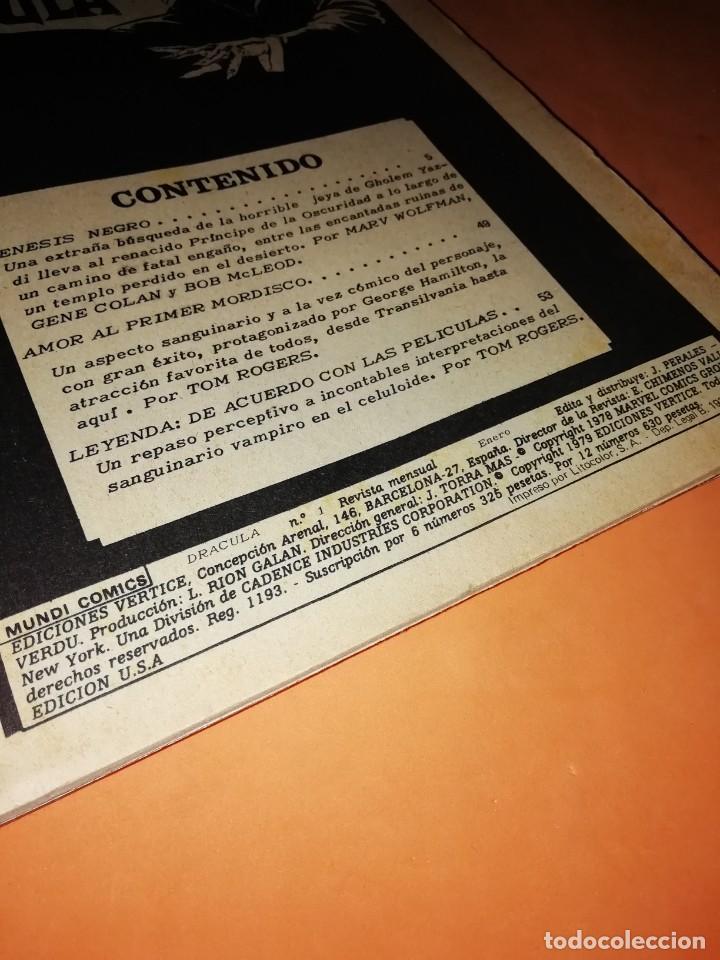Cómics: ESCALOFRIO PRESENTA : LA TUMBA DE DRACULA VOL 1 COMPLETA. 4 NUMEROS. VERTICE. - Foto 6 - 212790396