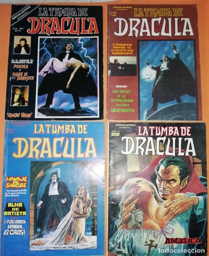 ESCALOFRIO PRESENTA : LA TUMBA DE DRACULA VOL 1 COMPLETA. 4 NUMEROS. VERTICE. (Tebeos y Comics - Vértice - Otros)