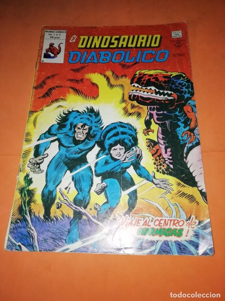 EL DINOSAURIO DIABOLICO. VOL 1 Nº 3. VIAJE AL CENTRO DE LAS HORMIGAS. VERTICE. (Tebeos y Comics - Vértice - Otros)
