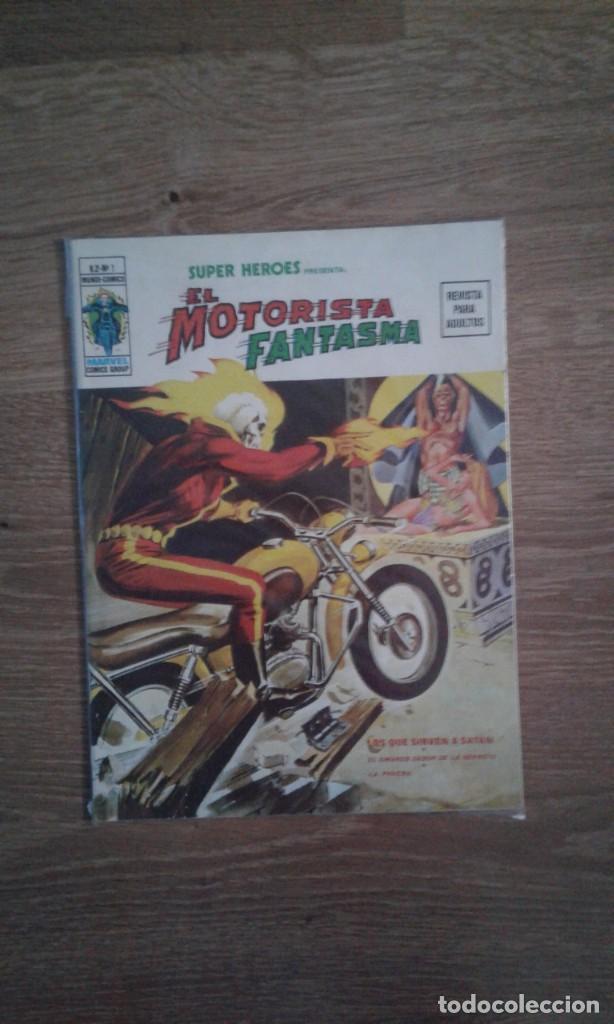 SUPER HEROES VOLUMEN 2 NUMERO 1 VERTICE: MOTORISTA FANTASMA. MUY DIFICIL. (Tebeos y Comics - Vértice - V.2)