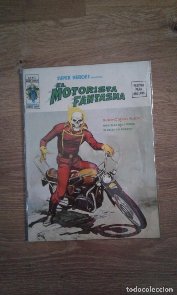 SUPER HEROES VOLUMEN 2 NUMERO 2 VERTICE: MOTORISTA FANTASMA. MUY DIFICIL. (Tebeos y Comics - Vértice - V.2)