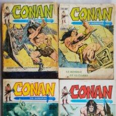 Fumetti: LOTE (F) - 4 EJEMPLARES DE CONAN, THE BARBARIAN - ED. VERTICE, BARCELONA - PJRB. Lote 214052882