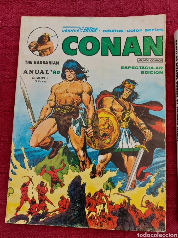 Cómics: CONAN THE BARBARIAN ANUAL 80 -ÁLBUM ESPECIAL LA ESPADA SALVAJE DE CONAN-FANTASIA HEROICA-COMIC FORUM - Foto 3 - 214474293