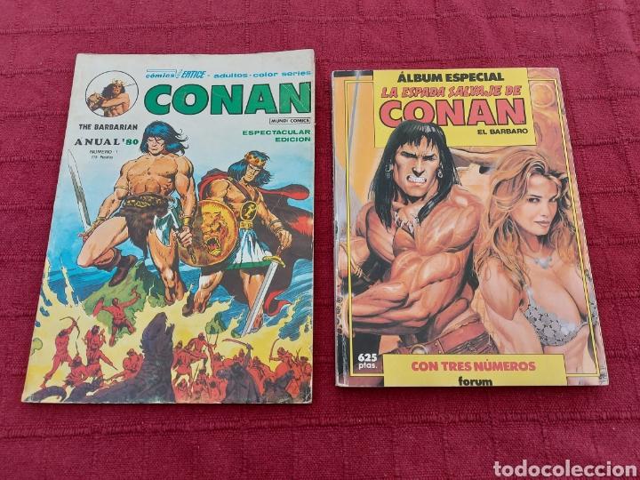 CONAN THE BARBARIAN ANUAL 80 -ÁLBUM ESPECIAL LA ESPADA SALVAJE DE CONAN-FANTASIA HEROICA-COMIC FORUM (Tebeos y Comics - Vértice - Conan)