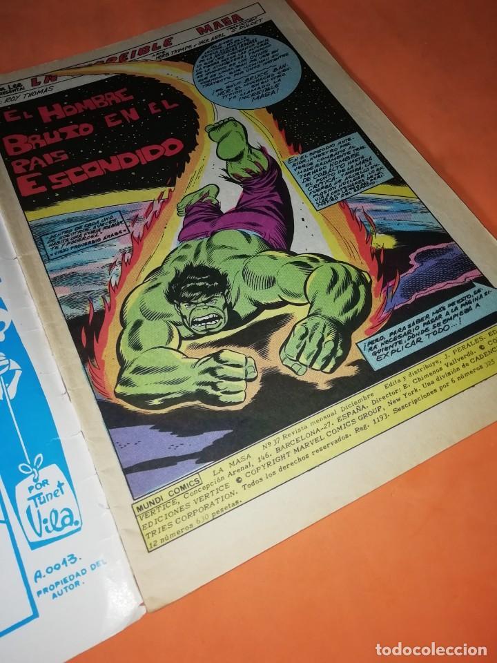 Cómics: LA MASA. VERTICE GRAPA. VOLUMEN 3. NUMERO 37. EL HOMBRE BRUTO EN EL PAIS ESCONDIDO - Foto 4 - 214639852