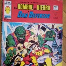 Cómics: HÉROES MARVEL VOL 2 NÚM 34. EL HOMBRE DE HIERRO Y DAN DEFENSOR. VÉRTICE. Lote 215322152