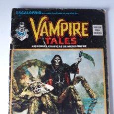 Cómics: ESCALOFRÍO Nº 10 PRESENTA: VAMPIRE TALES Nº 2. Lote 216015327