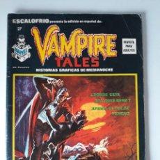 Cómics: ESCALOFRÍO Nº 27 PRESENTA: VAMPIRE TALES Nº 7. Lote 216015548
