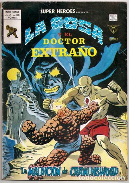LA COSA Y DOCTOR EXTRAÑO: LA MALDICIÓN DE CRAWLINSWOOD / SUPER HÉROES VOL.2, 116 - VÉRTICE, 01/1980 (Tebeos y Comics - Vértice - Super Héroes)