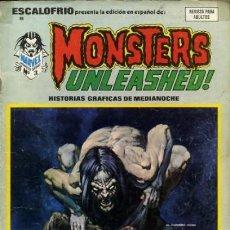 Cómics: ESCALOFRÍO-VÉRTICE- Nº 9 - MONSTERS UNLEASHED!-1974-GRAY MORROW-GEORGE TUSKA-BUENO-DIFÍCIL-3570. Lote 217038012
