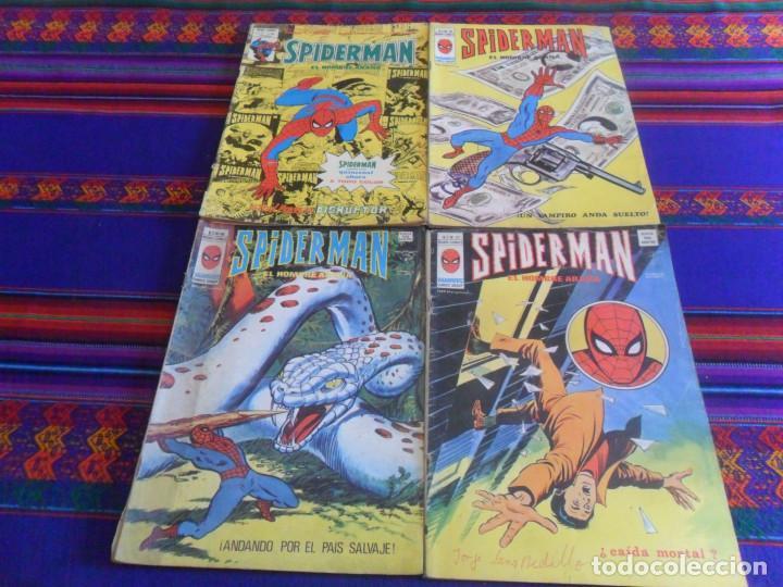 VÉRTICE VOL. 3 SPIDERMAN NºS 37 48 49 58. 1978. 50 PTS. BUEN PRECIO. (Tebeos y Comics - Vértice - V.3)