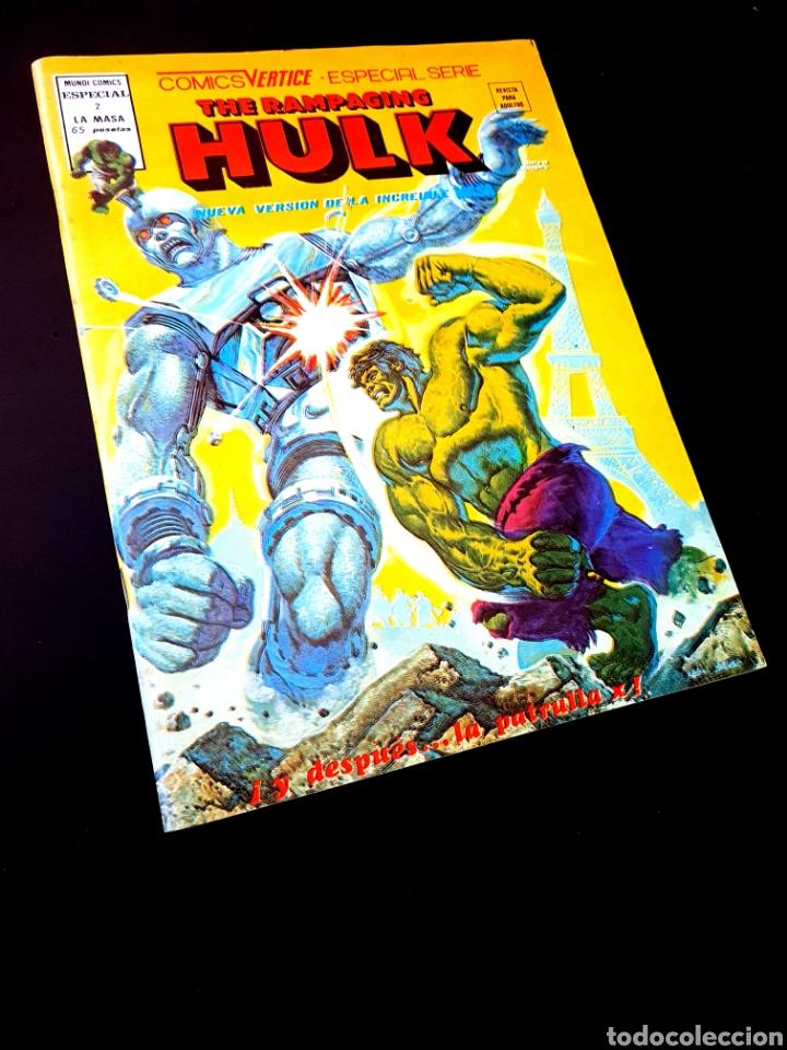 DE KIOSCO THE RAMPAGING HULK ESPECIAL 2 VERTICE (Tebeos y Comics - Vértice - La Masa)