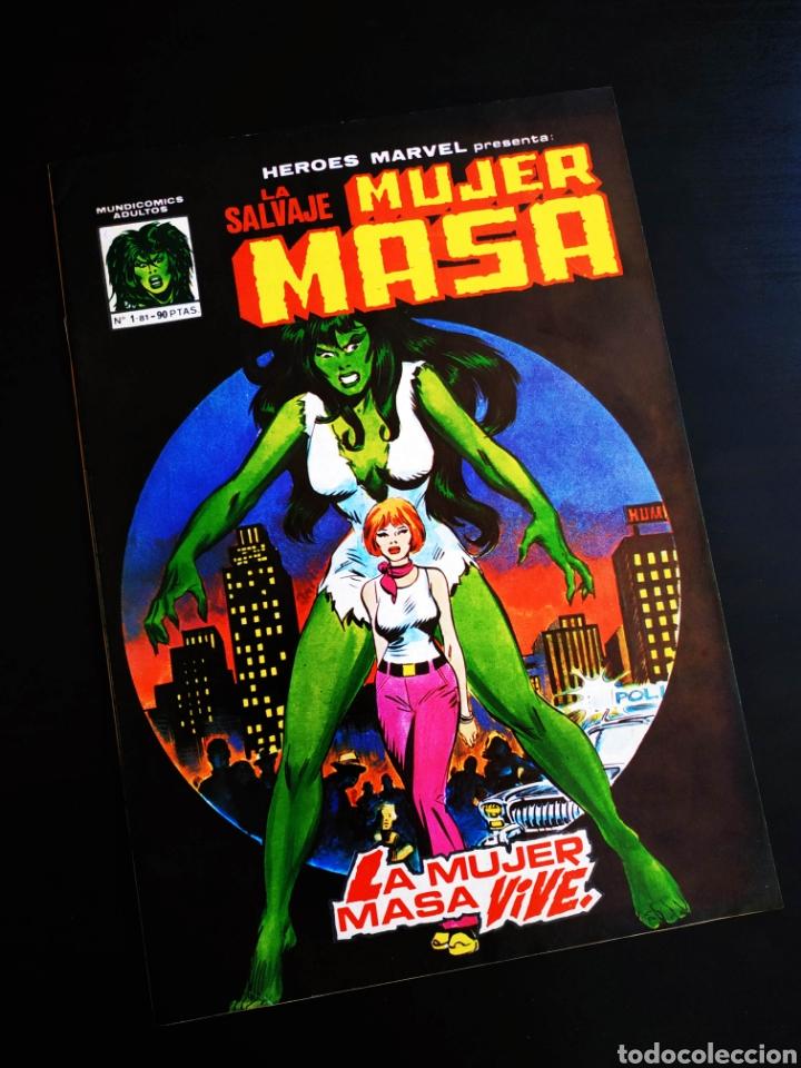 EXCELENTE ESTADO LA SALVAJE MUJER MASA 1 VERTICE (Tebeos y Comics - Vértice - La Masa)