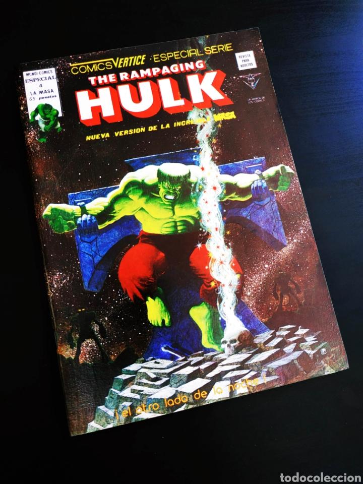 CASI EXCELENTE ESTADO THE RAMPAGING HULK 4 VERTICE (Tebeos y Comics - Vértice - La Masa)
