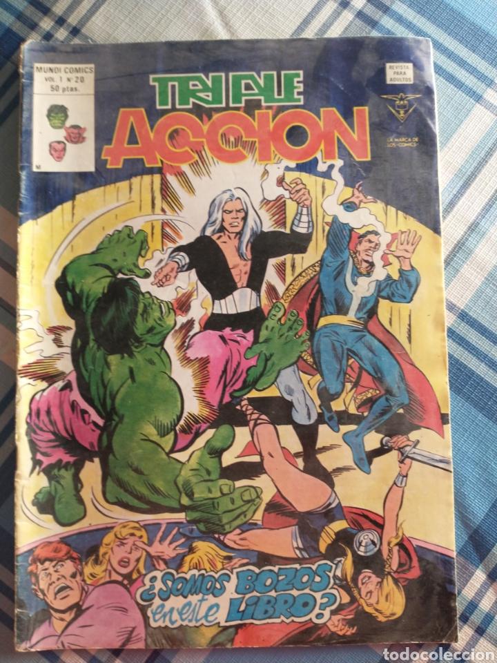 TRIPLE ACCIÓN COMO SE VE (Tebeos y Comics - Vértice - Super Héroes)