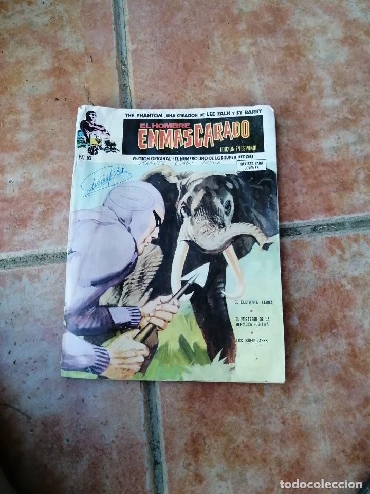 EL HOMBRE ENMASCARADO, Nº 10, EL ELEFANTE FEROZ, AÑO 1973 (Tebeos y Comics - Vértice - Hombre Enmascarado)