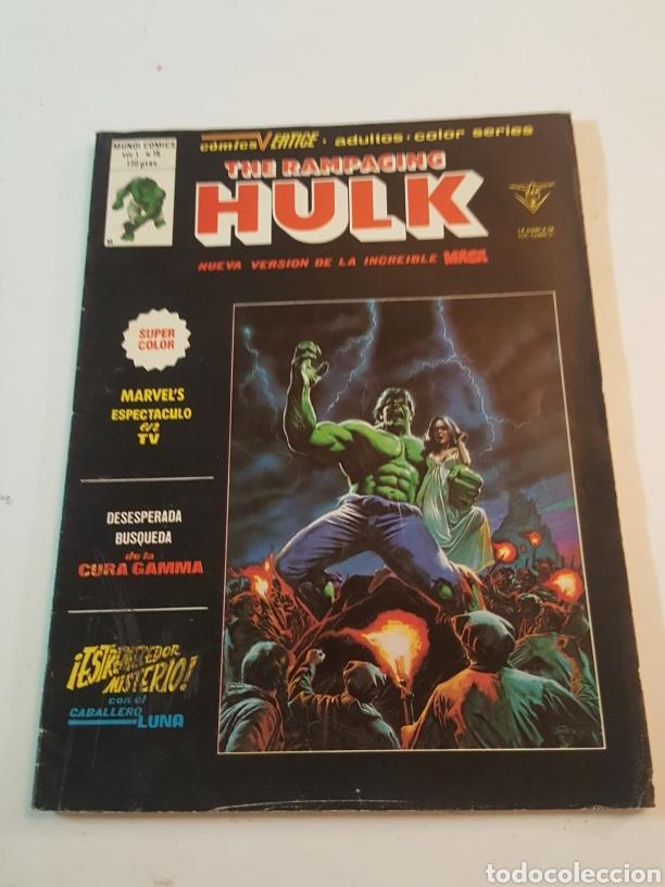 MUNDI COMICS N° 15 THE RAMPAGING HULK 1980 COMICS VERTICE (Tebeos y Comics - Vértice - La Masa)