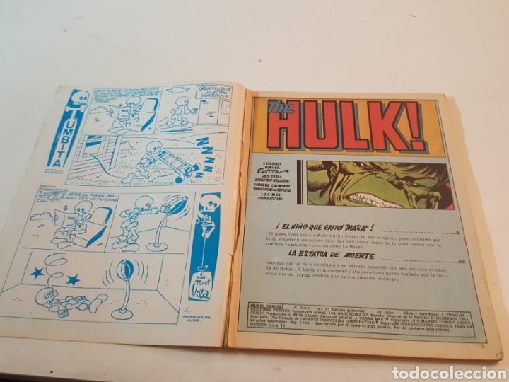 Cómics: Mundi Comics The Rampaging Hulk N° 11 El niño que gritó Masa Vertice 1980 - Foto 2 - 218247086