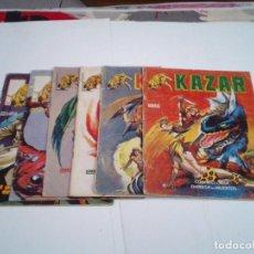 Cómics: KAZAR - VOLUMEN 2 - EDITORIAL SURCO - VERTICE - LOTE 6 NUMEROS - CJ 112 - GORBAUD. Lote 218676866