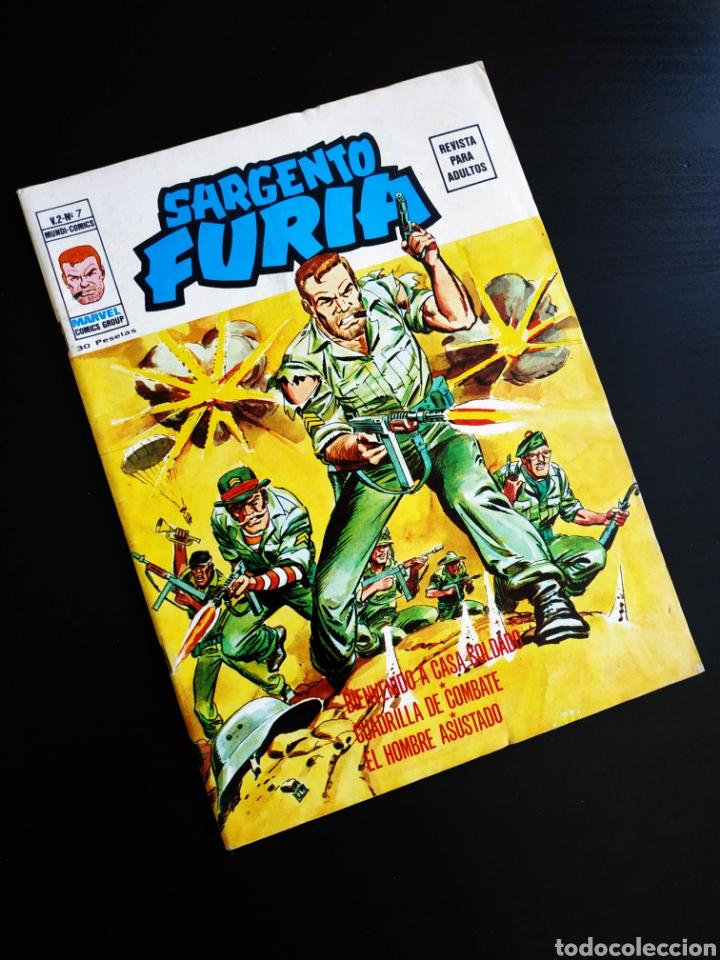 MUY BUEN ESTADO SARGENTO FURIA 7 VOL II MUNDI COMICS VERTICE (Tebeos y Comics - Vértice - Furia)