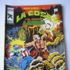 Cómics: SUPER HEROES (1974, VERTICE) 104 · 1976 · LA COSA Y EL CAPITAN AMERICA. EL DIA QUE EL MUNDO GIRE ATR. Lote 219155475
