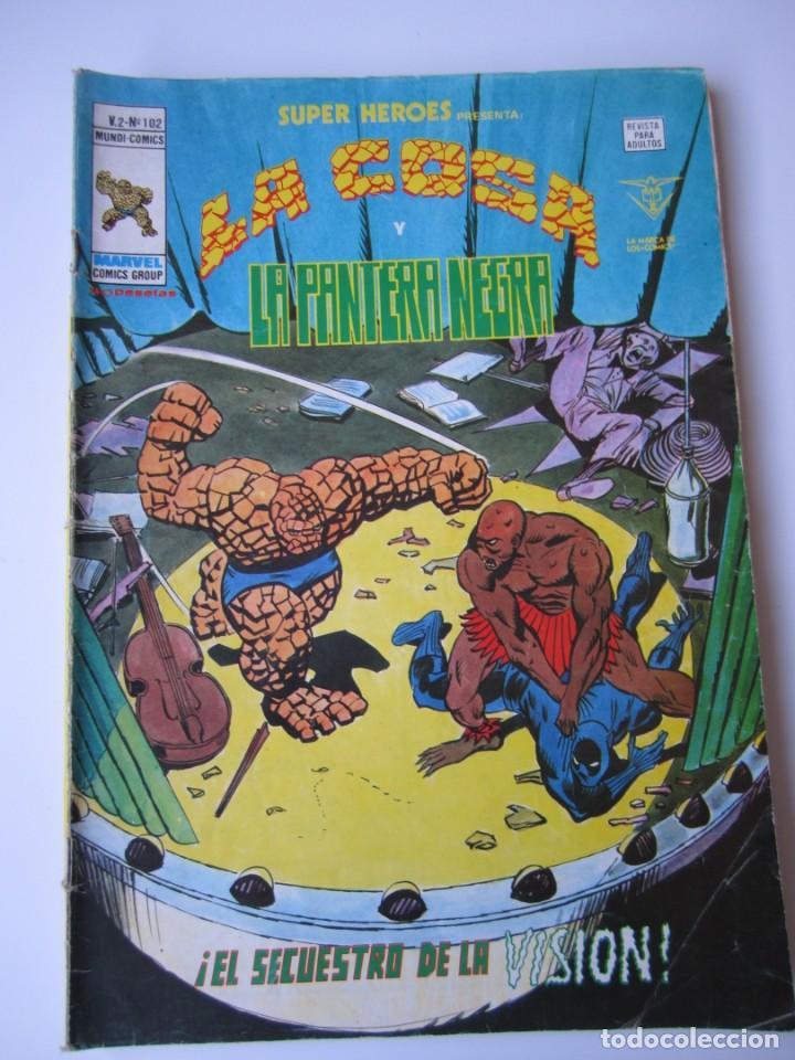 SUPER HEROES (1974, VERTICE) 102 · 1976 · LA COSA Y LA PANTERA NEGRA. EL SECUESTRO DE LA VISION (Tebeos y Comics - Vértice - Super Héroes)
