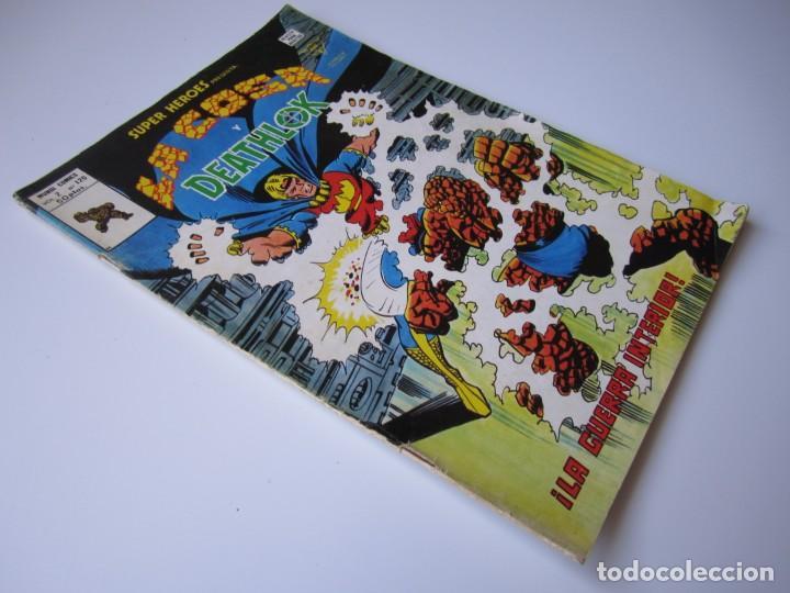 Cómics: SUPER HEROES (1974, VERTICE) 120 · III-1980 · LA COSA Y DEATHLOK. ¡LA GUERRA INTERIOR! - Foto 3 - 219156615