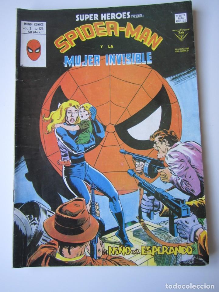 SUPER HEROES (1974, VERTICE) 124 · 1976 · SPIDER-MAN Y LA MUJER INVISIBLE. UN NIÑO ESTA ESPERANDO (Tebeos y Comics - Vértice - Super Héroes)