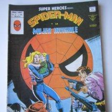 Cómics: SUPER HEROES (1974, VERTICE) 124 · 1976 · SPIDER-MAN Y LA MUJER INVISIBLE. UN NIÑO ESTA ESPERANDO. Lote 219158656